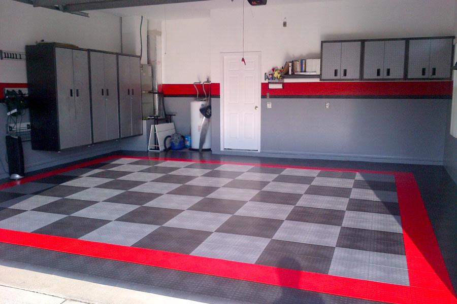 Garage Tile Designs: Incstores Grid-Loc Garage Tiles (12) 12in X 12in Diamond
