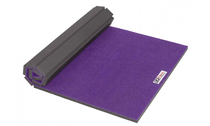 exercise thick product gymnastic mat purple folding for panel gym shop mats rakuten costway gymnastics home x two fitness