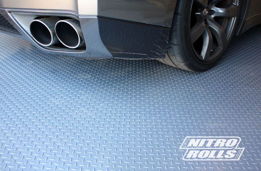 Incstores Diamond Nitro Garage Flooring Roll Mat Car Trailer Floor