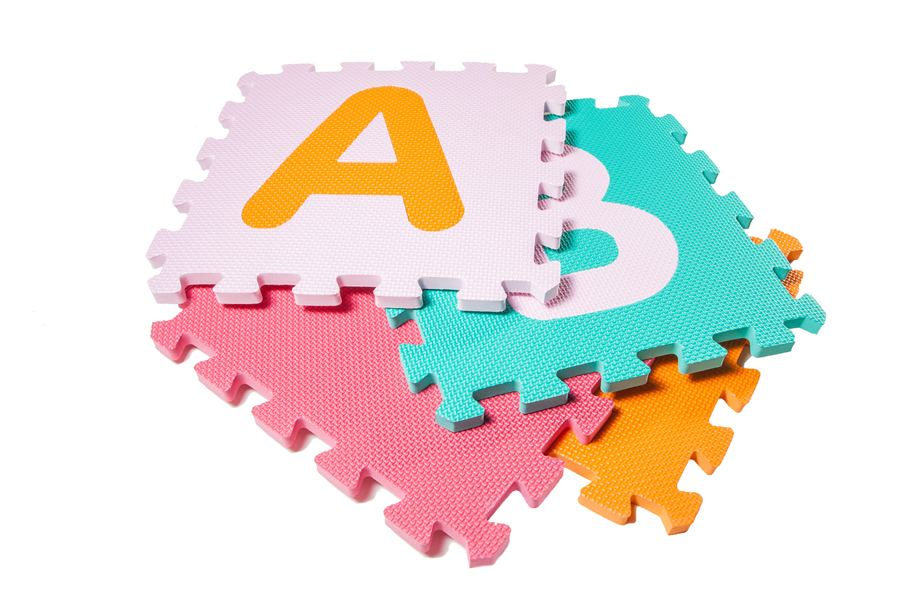 Incstores abc 123 large foam alphabet numbers for Baby care play mat letters numbers grey large
