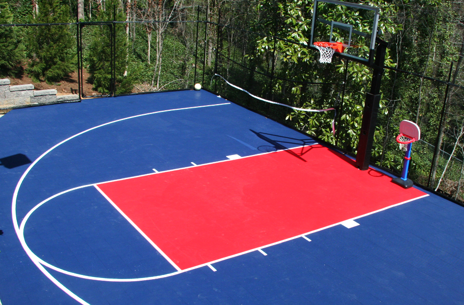 Details About Flooringinc Outdoor Basketball Kit Half Court 20 X 24 480 Tiles Edges