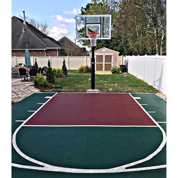 FlooringInc Outdoor Sport Court Tiles -1'x1' Basketball ...
